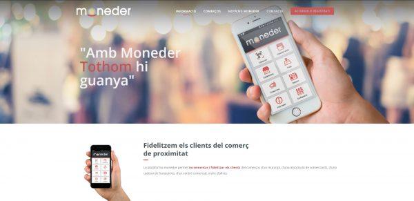 Javajan. Nueva página web para la plataforma de fidelización Moneder