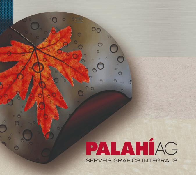 Creación de una landing page para Palahi