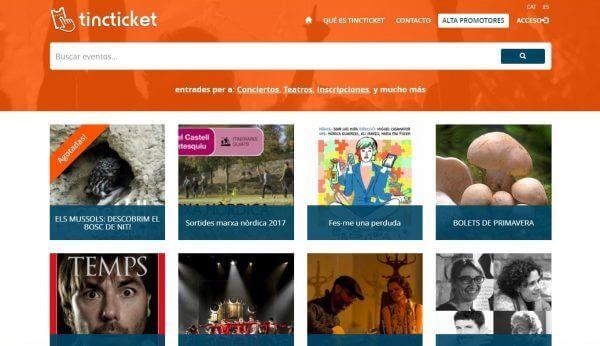 Javajan. Tincticket, plataforma de venta de entradas on-line
